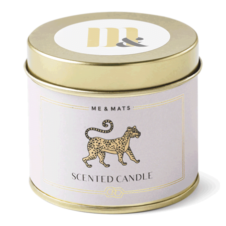Tin candle You Tigra - ME&MATS - Gift - Luxe - Personal message - Wrapped gift