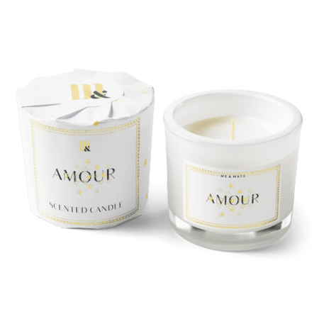 Wrapped Scented Candle Amour - ME&MATS - Gift - Luxe - Personal message - Wrapped gift