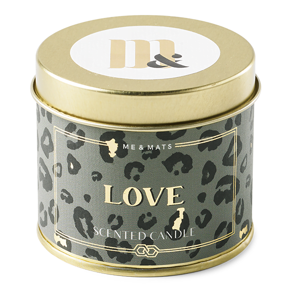 Tin candle - Crazy Leopard Love ME&MATS