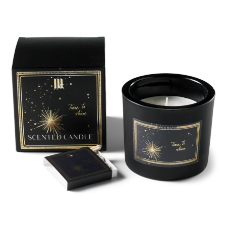 Luxury scented candle Blue Star - ME&MATS - Gift - Luxe - Personal message - Wrapped gift