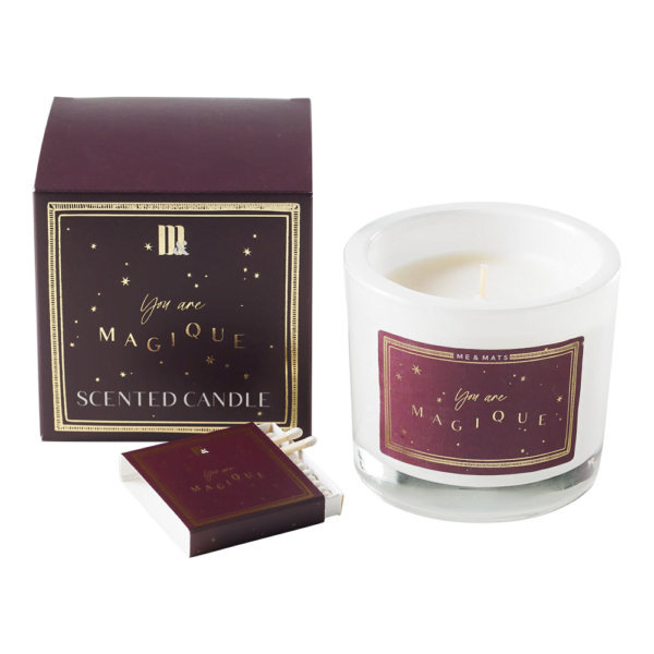 Luxury scented candle Burgundy Stars - ME&MATS - Gift - Luxe - Personal message - Wrapped gift