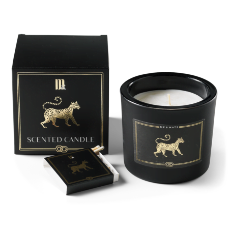 Luxury scented candle Gold Tigra - ME&MATS - Gift - Luxe - Personal message - Wrapped gift