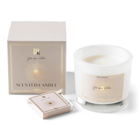 LuxuryLuxury scented candle You're Golden - ME&MATS - Gift - Luxe - Personal message - Wrapped gift scented candle - You are Golden ME&MATS