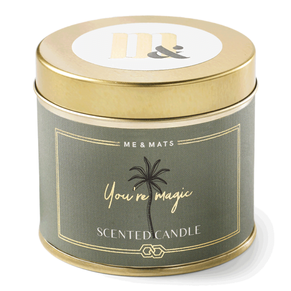 Tin candle You're Magic - ME&MATS - Gift - Luxe - Personal message - Wrapped gift