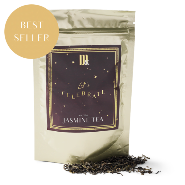 Tea pouch Let's celebrate burgundy stars ME&MATS