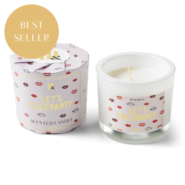 Wrapped scented candle Let's celebrate ME&MATS