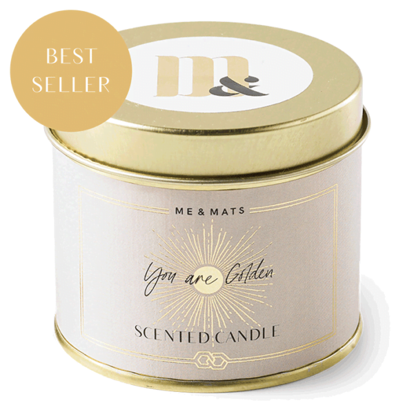 Tin candle You're Golden- ME&MATS - Gift - Luxe - Personal message - Wrapped gift