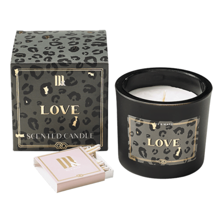Luxury scented candle Crazy Leopard - ME&MATS - Gift - Luxe - Personal message - Wrapped gift