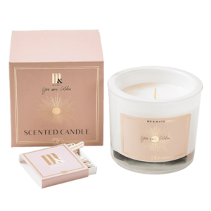 Luxury scented candle You're Golden - ME&MATS - Gift - Luxe - Personal message - Wrapped gift