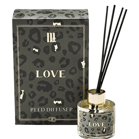 Reed diffuser Crazy Leopard- ME&MATS - Gift - Luxe - Personal message - Wrapped gift