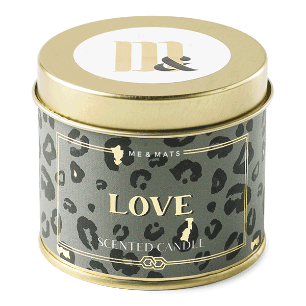 Tin candle Crazy Leopard- ME&MATS - Gift - Luxe - Personal message - Wrapped gift