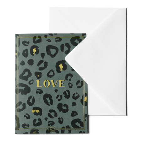 Greeting card - Crazy Leopard Love ME&MATS