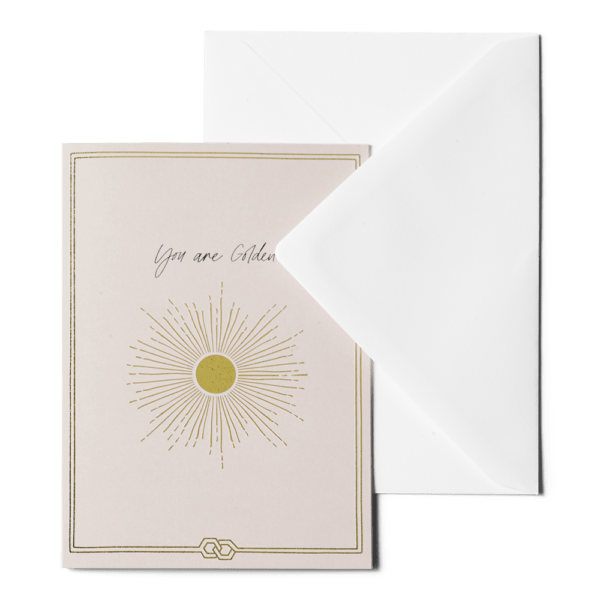 Greeting card - You are golden ME&MATS