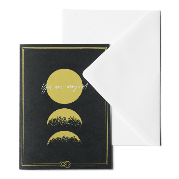 Greeting card - You are Magical Black Galaxy ME&MATS