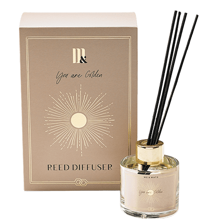 Reed diffuser You're Golden - ME&MATS - Gift - Luxe - Personal message - Wrapped gift