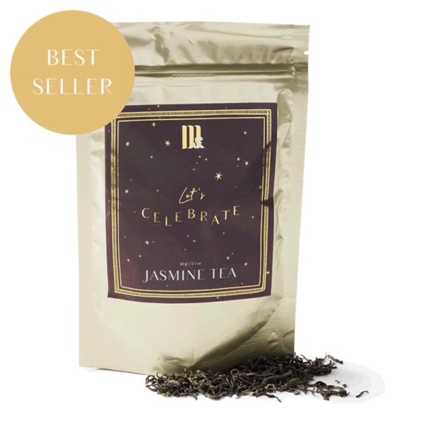 Tea Pouch Burgundy Stars - ME&MATS - Gift - Luxe - Personal message - Wrapped gift