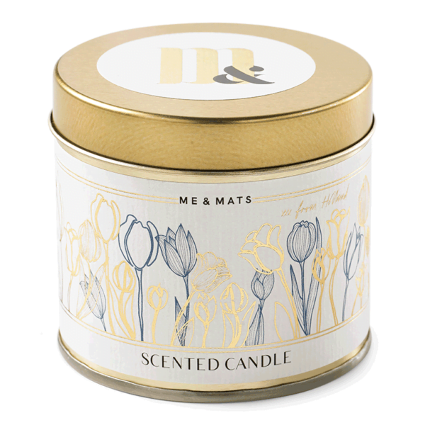 Tin candle Dutch Tulips - ME&MATS - Gift - Luxe - Personal message - Wrapped gift