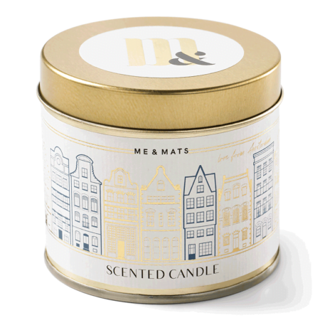 Tin candle Dutch Houses- ME&MATS - Gift - Luxe - Personal message - Wrapped gift
