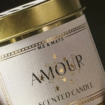 ME&MATS Amour tin candle scented