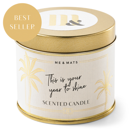 Tin candle Time to Shine - ME&MATS - Gift - Luxe - Personal message - Wrapped gift