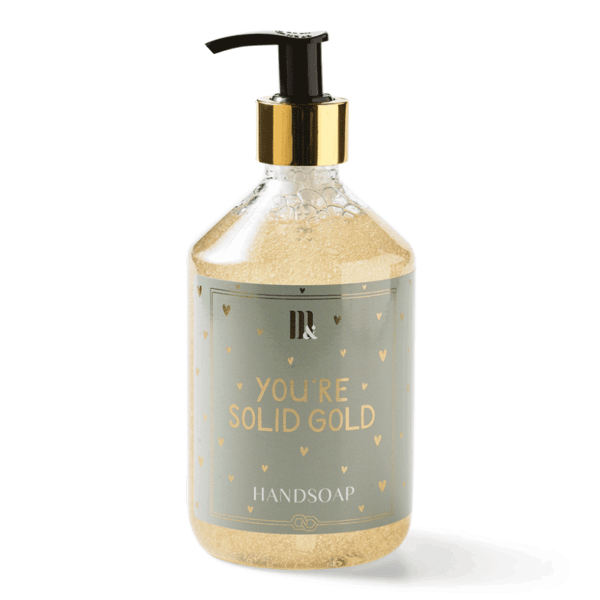 Handsoap Solid Gold - ME&MATS - Gift - Luxe - Personal message - Wrapped gift