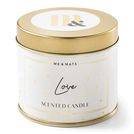 Tin candle Love - ME&MATS - Gift - Luxe - Personal message - Wrapped gift