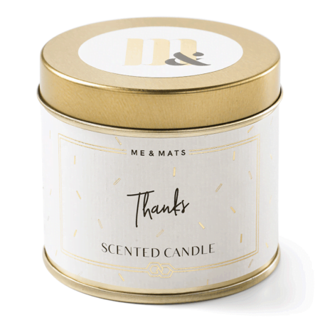 Tin candle Tanks - ME&MATS - Gift - Luxe - Personal message - Wrapped gift