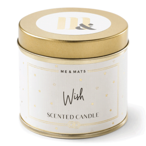 Tin candle Wish - ME&MATS - Gift - Luxe - Personal message - Wrapped gift