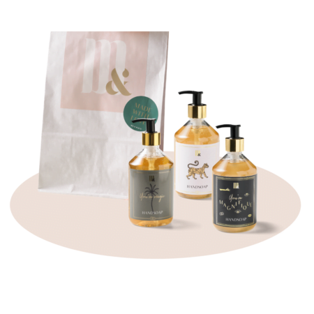 Giftset 3 handsoaps - ME&MATS - Gift - Luxe - Personal message - Wrapped gift