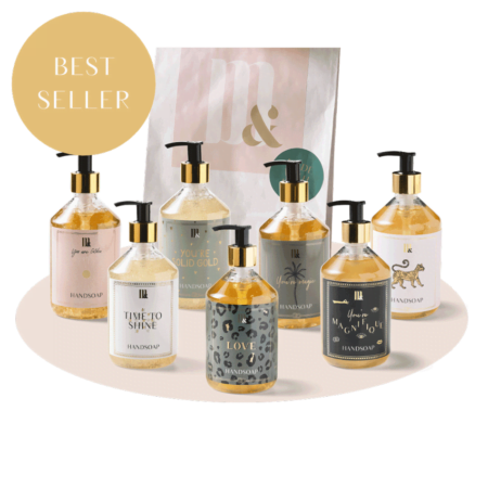 Giftset 7 handsoaps - ME&MATS - Gift - Luxe - Personal message - Wrapped gift