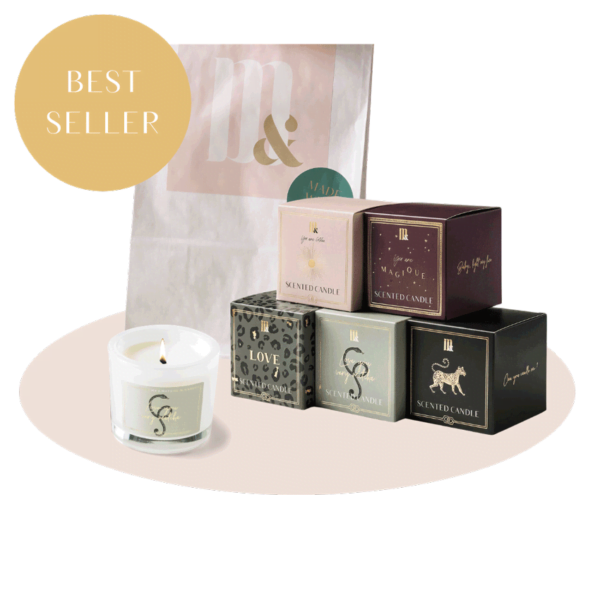 Giftset 5 luxury scented candles - ME&MATS - Gift - Luxe - Personal message - Wrapped gift