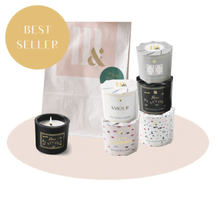 Giftset 5 wrapped candles - ME&MATS - Gift - Luxe - Personal message - Wrapped gift