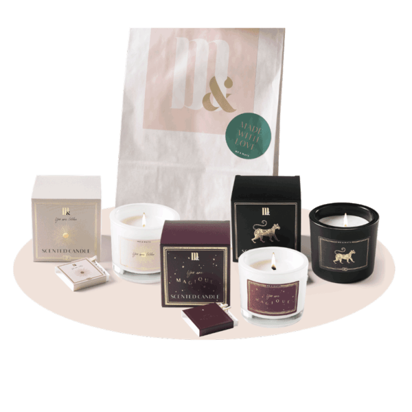Giftset 3 luxury scented candles - ME&MATS - Gift - Luxe - Personal message - Wrapped gift
