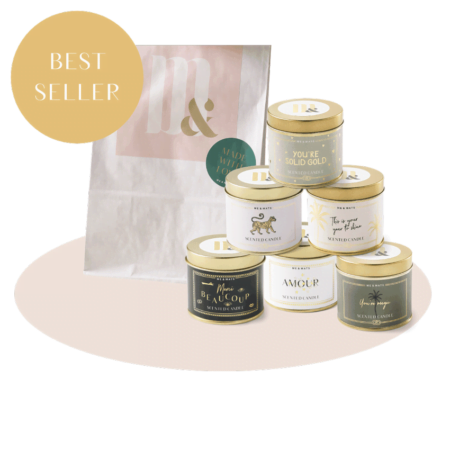 Giftset 6 tin scented candles- ME&MATS - Gift - Luxe - Personal message - Wrapped gift