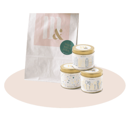 Giftset Dutch tin candles- ME&MATS - Gift - Luxe - Personal message - Wrapped gift