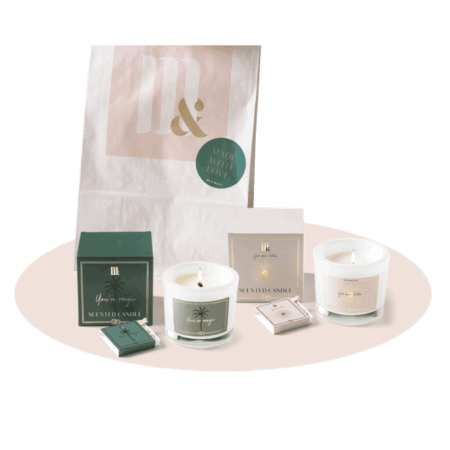 Giftset 2 luxury scented candles- ME&MATS - Gift - Luxe - Personal message - Wrapped gift