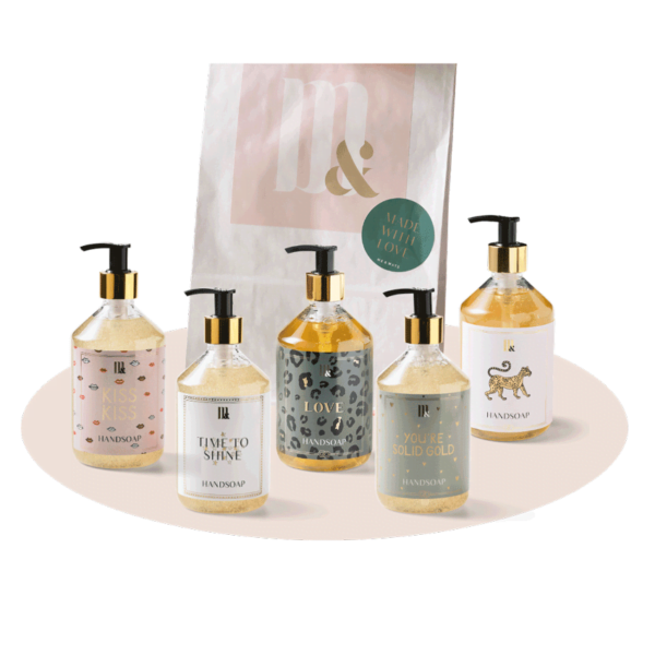 Giftset 5 handsoaps - ME&MATS - Gift - Luxe - Personal message - Wrapped gift