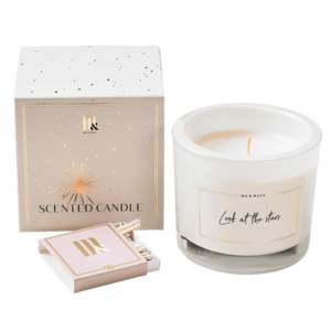 Luxe geurkaars Stars- ME&MATS - Gift - Luxe - Personal message - Wrapped gift