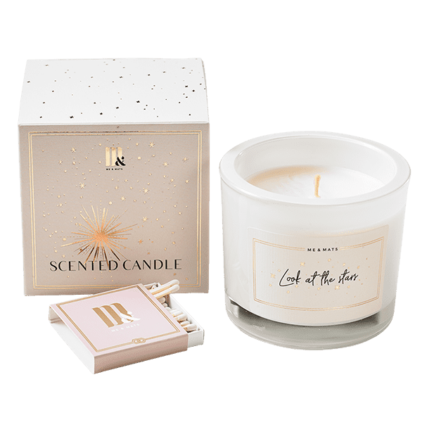 Luxury scented candle Stars- ME&MATS - Gift - Luxe - Personal message - Wrapped gift