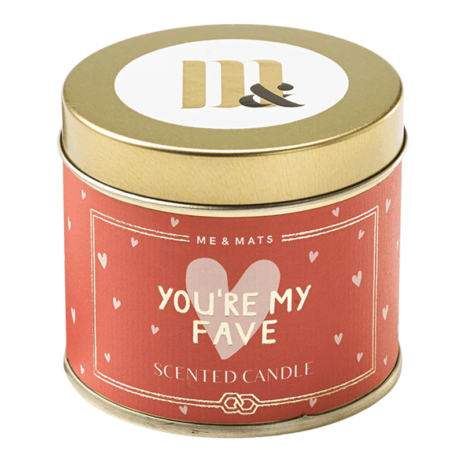 Tin Scented Candle My Fave - ME&MATS - Gift - Luxe - Personal message - Wrapped gift